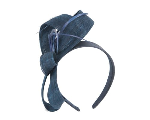 Fascinators Online - Navy loops headband fascinator by Fillies Collection 2