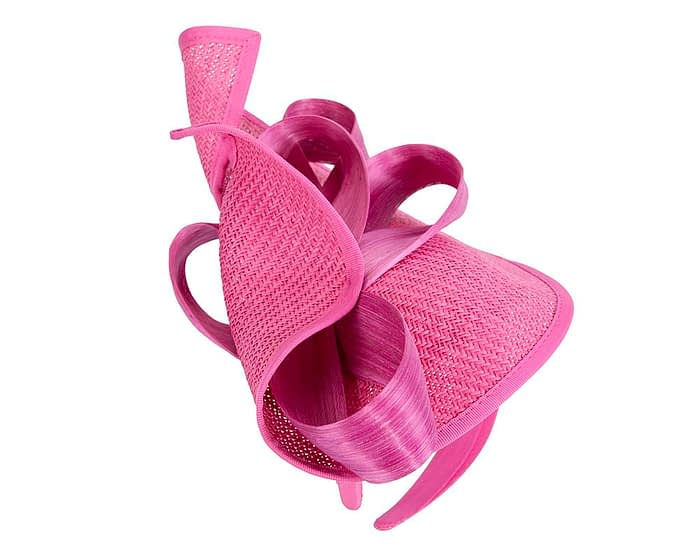 Fascinators Online - Fuchsia fascinator with bow by Fillies Collection 4