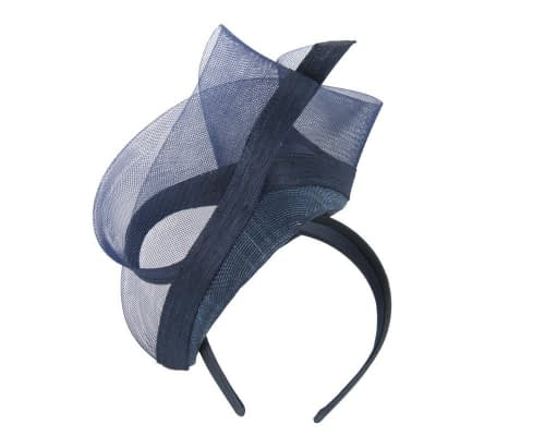 Navy nude racing fascinator