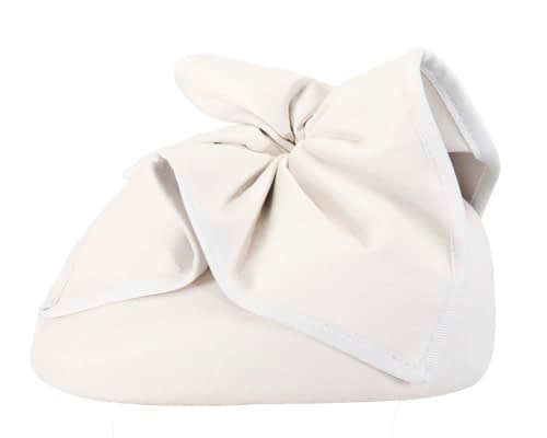 Fascinators Online - White leather pillbox fascinator by Max Alexander 3