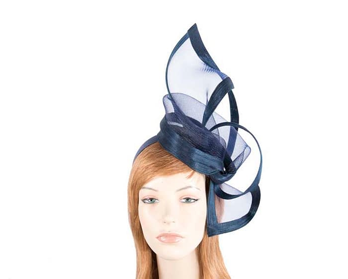 Fascinators Online - Edgy navy fascinator by Fillies Collection 1