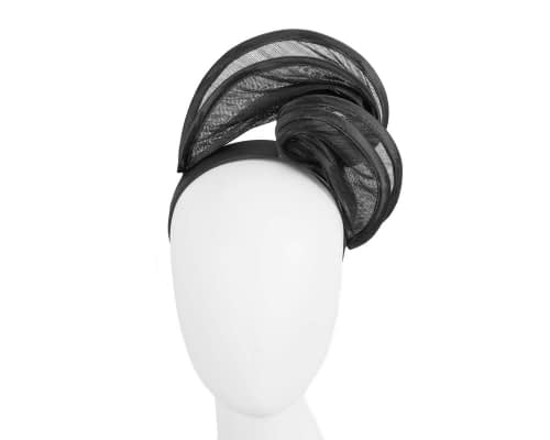 Fascinators Online - Black headband racing fascinator by Fillies Collection 43