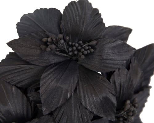 Fascinators Online - Black sculptured handcrafted flower fascinator by Fillies Collection 3