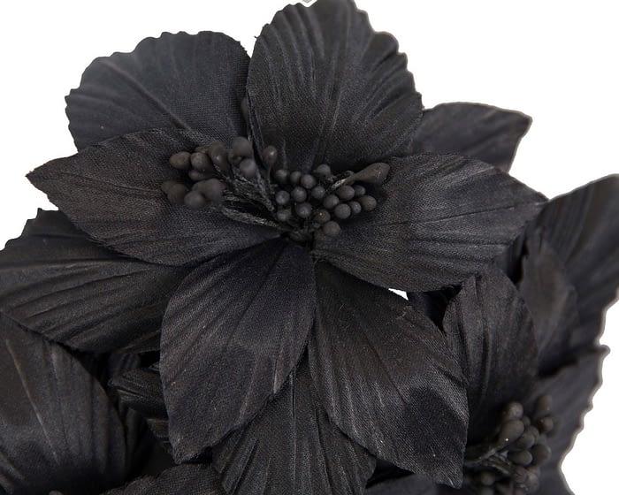 Fascinators Online - Black sculptured handcrafted flower fascinator by Fillies Collection 3