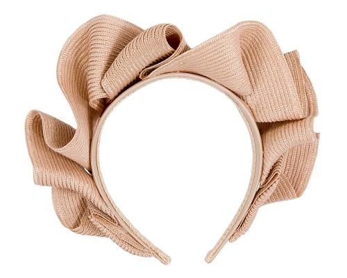 Fascinators Online - Nude PU leather crown fascinator by Max Alexander 4