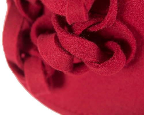 Fascinators Online - Red felt cloche by Max Alexander 5