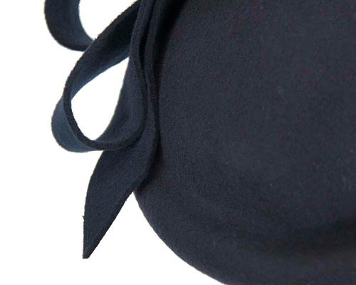 Fascinators Online - Large navy felt fascinator hat by Fillies Collection 6