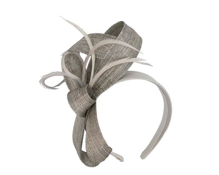 Fascinators Online - Silver loops headband fascinator by Fillies Collection 2