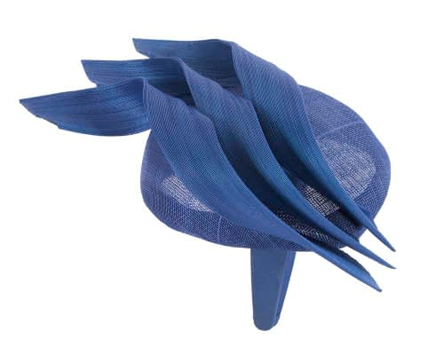Fascinators Online - Royal blue pillbox racing fascinator with jinsin trim by Fillies Collection 4