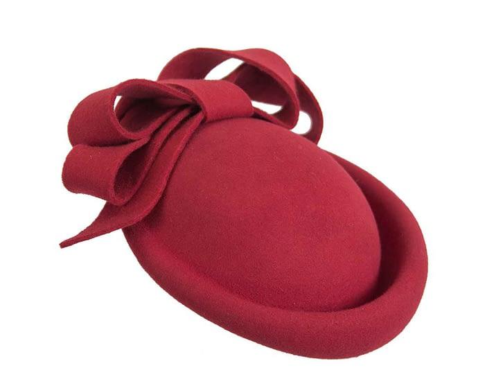 Fascinators Online - Large red felt fascinator hat by Fillies Collection 2