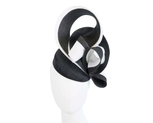 Fascinators Online - Black & white racing fascinator by Fillies Collection 26