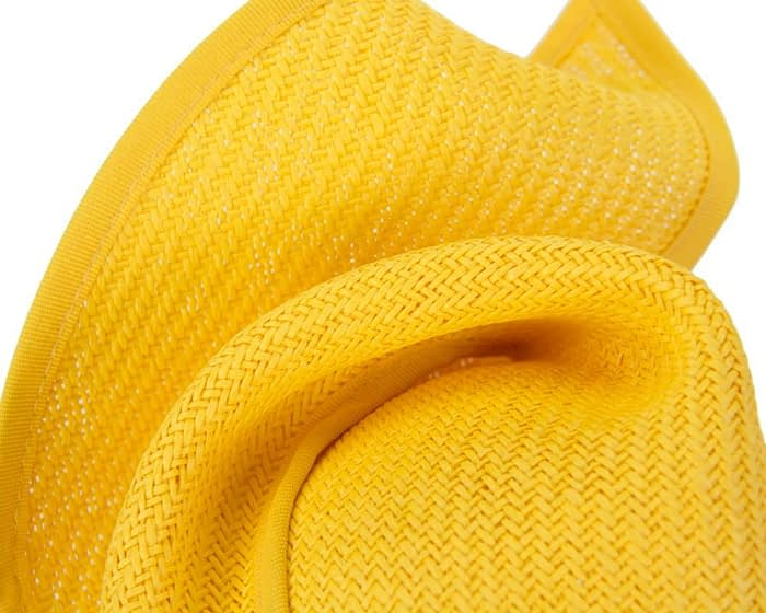 Fascinators Online - Yellow twisted fascinator by Max Alexander 3