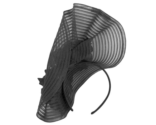 Fascinators Online - Large black racing fascinator with flowers by Fillies Collection 4