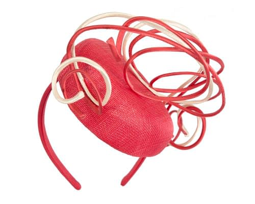 Fascinators Online - Designers red & nude racing fascinator by Fillies Collection 6