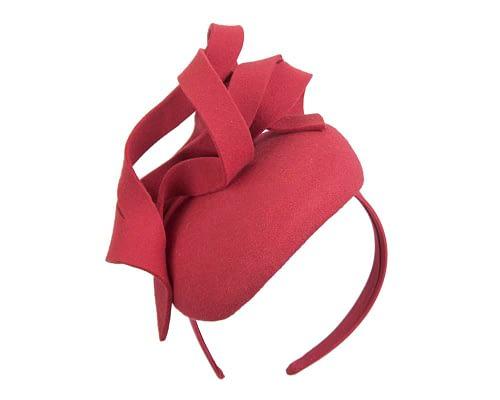 Fascinators Online - Unusual red felt pillbox fascinator by Fillies Collection 2