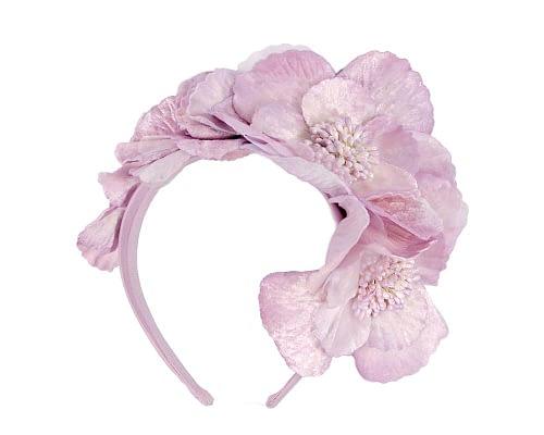 Fascinators Online - Lilac flowers on the headband 2