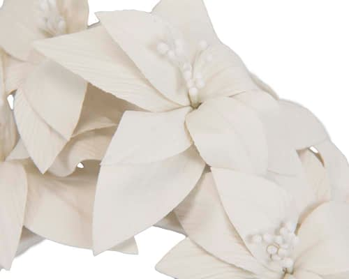 Fascinators Online - Cream leather flower headband by Fillies Collection 3