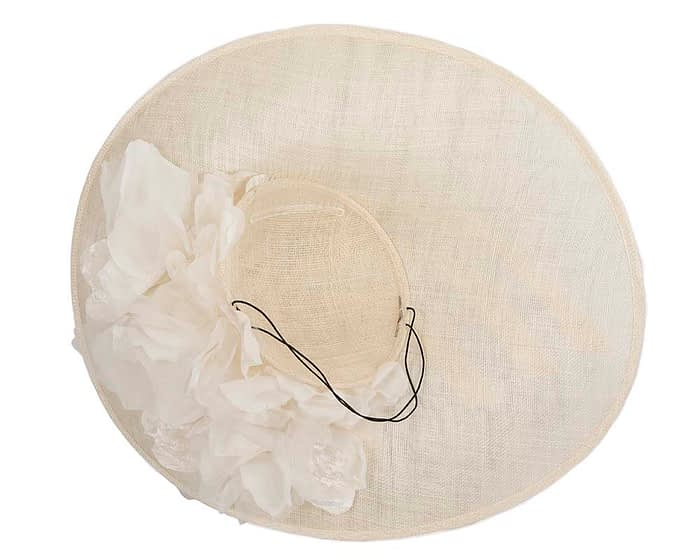 Fascinators Online - Large cream plate racing fascinator by Fillies Collection 6