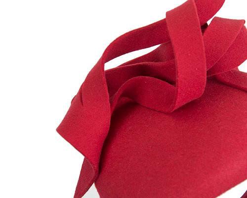 Fascinators Online - Unusual red felt pillbox fascinator by Fillies Collection 5