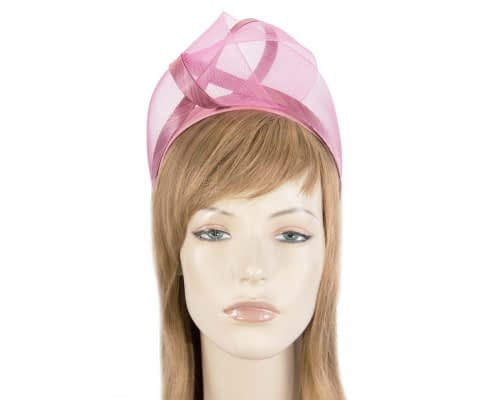 Fascinators Online - Dusty pink turban headband by Fillies Collection 1