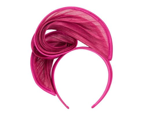 Fascinators Online - Fuchsia headband racing fascinator by Fillies Collection 4