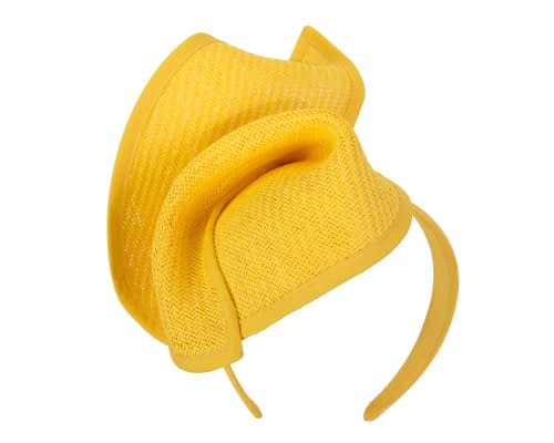 Fascinators Online - Yellow twisted fascinator by Max Alexander 2