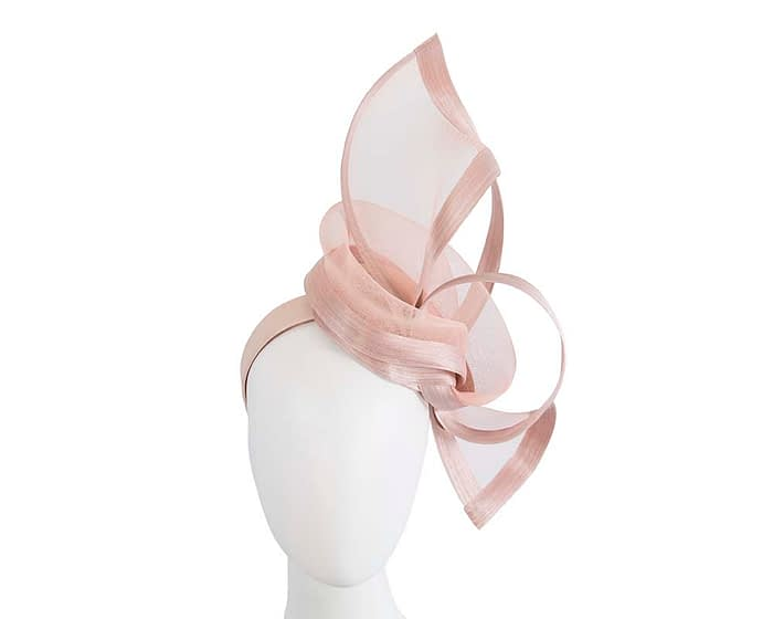 Fascinators Online - Edgy blush fascinator by Fillies Collection 1