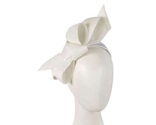 Fascinators Online - Large off white bow fascinator by Max Alexander 5