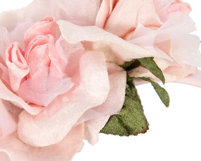 Fascinators Online - Multi-color blush flower headband by Max Alexander 3