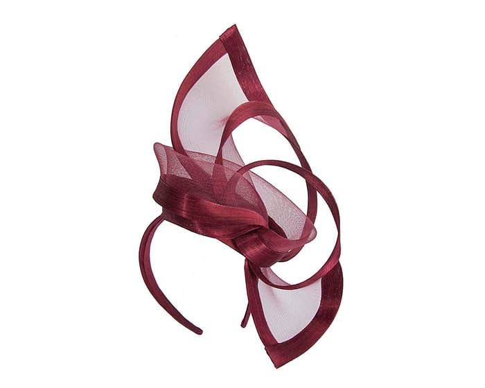 Fascinators Online - Edgy burgundy wine fascinator by Fillies Collection 2