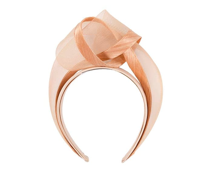 Fascinators Online - Nude turban headband by Fillies Collection 4