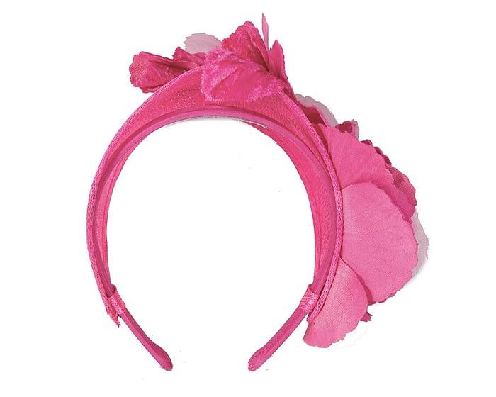 Fascinators Online - Fuchsia flower headband fascinator by Max Alexander 4