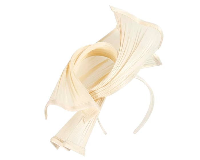 Fascinators Online - Twisted cream jinsin racing fascinator by Fillies Collection 2