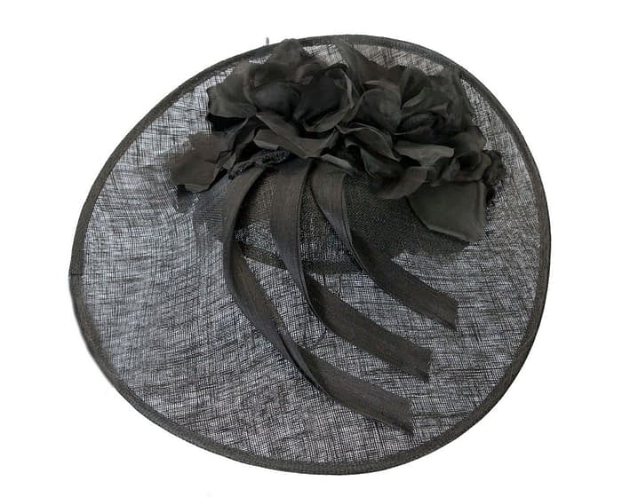 Fascinators Online - Large black plate racing fascinator by Fillies Collection 3