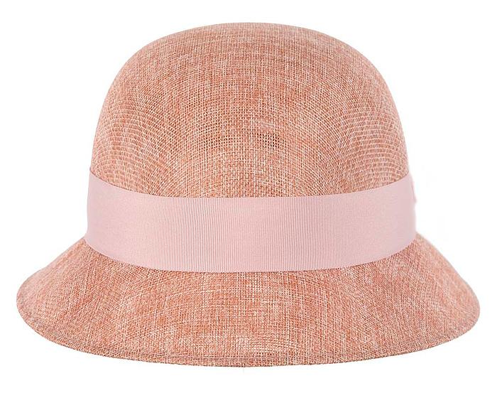 Fascinators Online - Dusty pink spring racing bucket hat 5