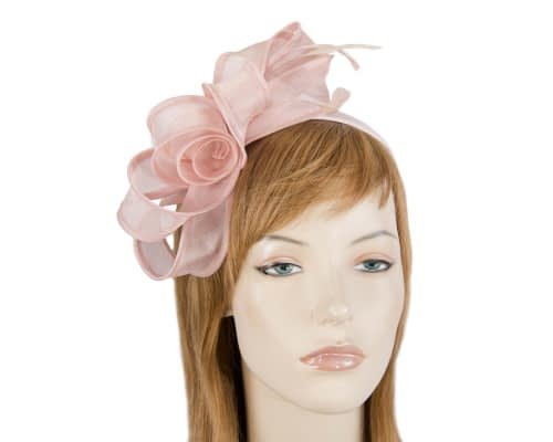 Fascinators Online - Pink organza bow fascinator by Max Alexander 12