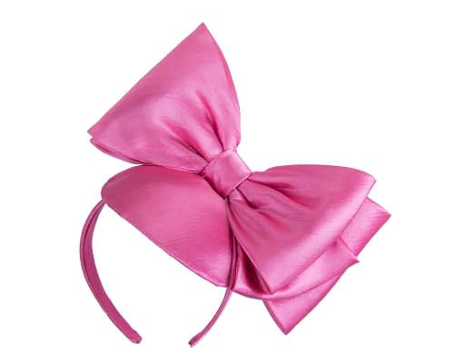 Fascinators Online - Large fuchsia bow fascinator by Max Alexander 2