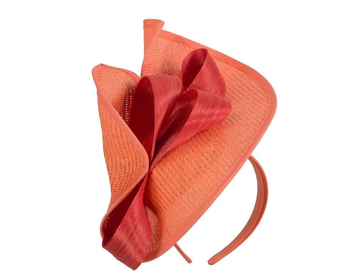 Fascinators Online - Orange fascinator with bow by Fillies Collection 2
