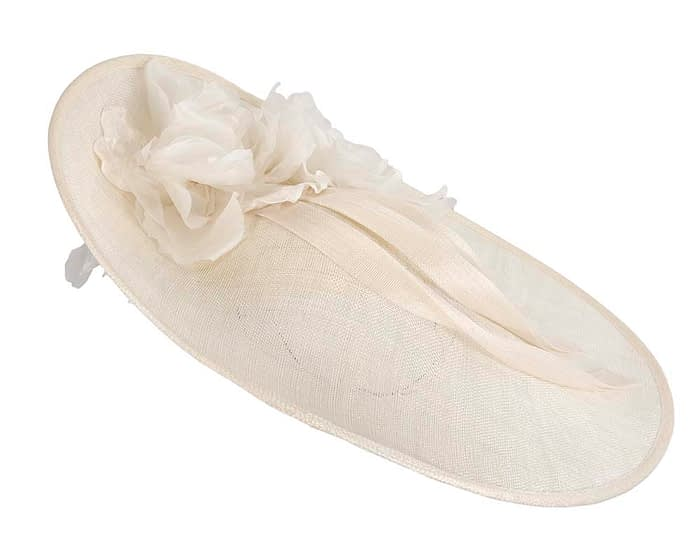 Fascinators Online - Large cream plate racing fascinator by Fillies Collection 4