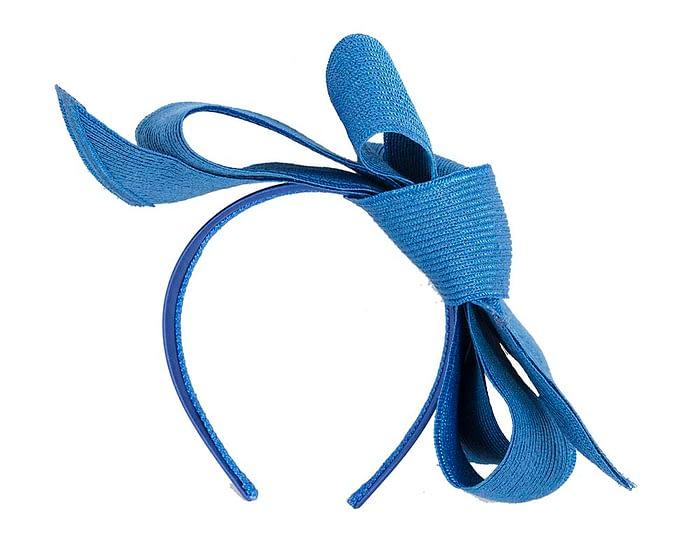 Fascinators Online - Large royal blue bow fascinator by Max Alexander 4