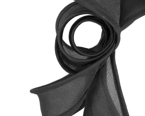 Fascinators Online - Black organza bow fascinator by Max Alexander 3
