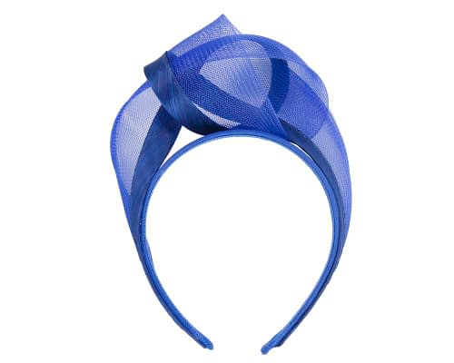 Fascinators Online - Royal blue turban headband by Fillies Collection 2