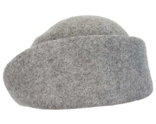 Fascinators Online - Designers grey marle felt hat 6