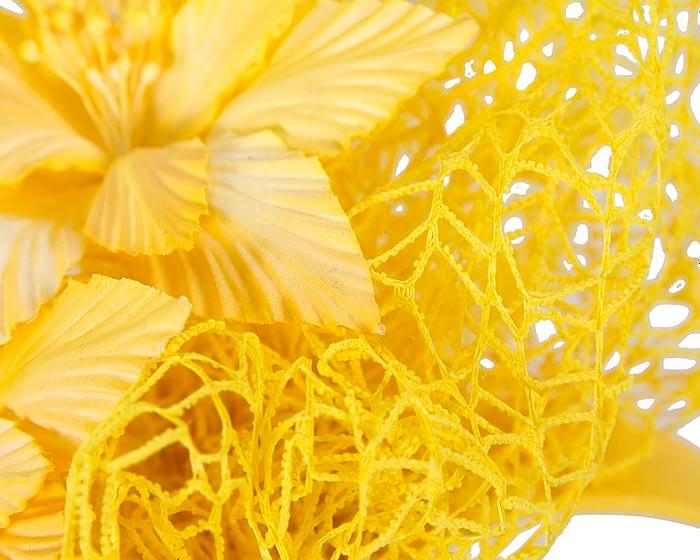 Fascinators Online - Yellow designers racing fascinator by Fillies Collection 3