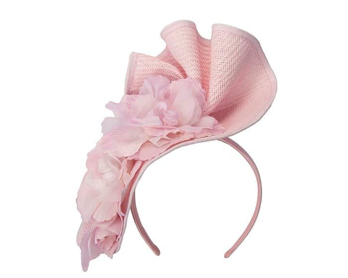 Fascinators Online - Bespoke large pink flower fascinator by Fillies Collection 2