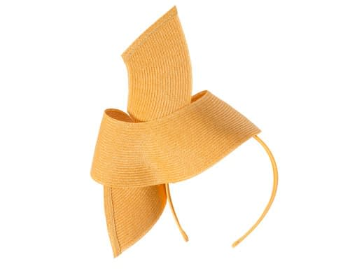 Fascinators Online - Stylish mustard Australian Made racing fascinator by Max Alexander 6
