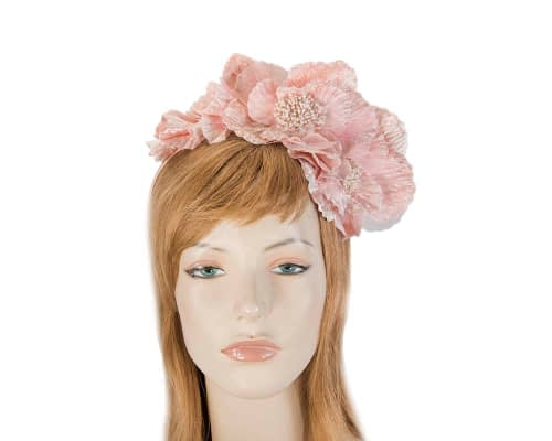 Fascinators Online - Pink flowers on the headband 3