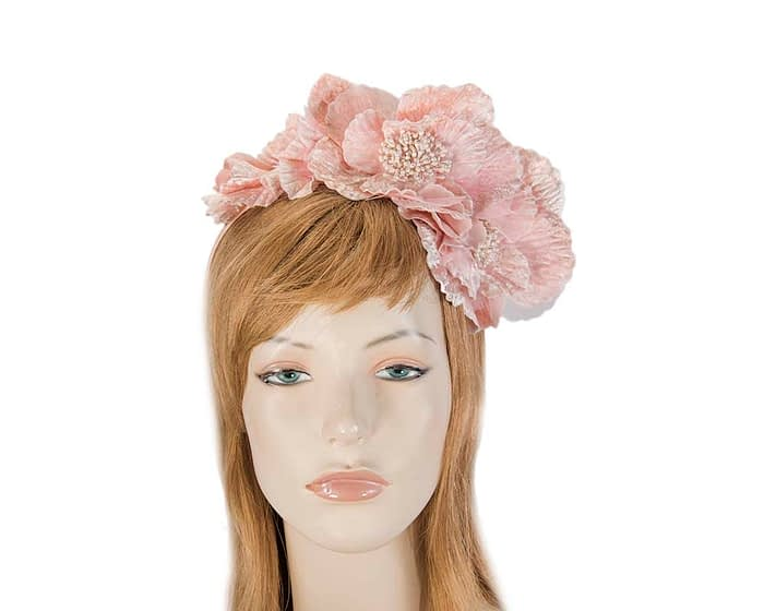 Fascinators Online - Pink flowers on the headband 1