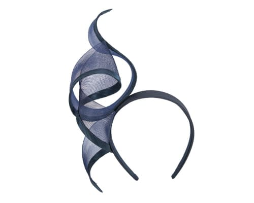 Fascinators Online - Twisted navy racing fascinator by Fillies Collection 2