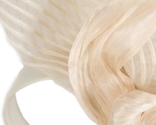 Fascinators Online - Tall Australian Made cream racing fascinator by Fillies Collection 3